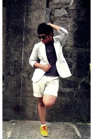Nina Ricci blazer - Esprit shirt - Topman shoes - Ralph Lauren shorts - Folded a
