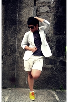 Nina Ricci blazer - Esprit shirt - Topman shoes - Ralph Lauren shorts - Folded a