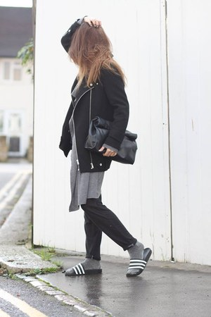 Adidas shoes - Zara coat - Lookbook Store cardigan - Topshop romper