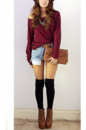 Bershka bag - brick red new look jumper - Oasapcom accessories