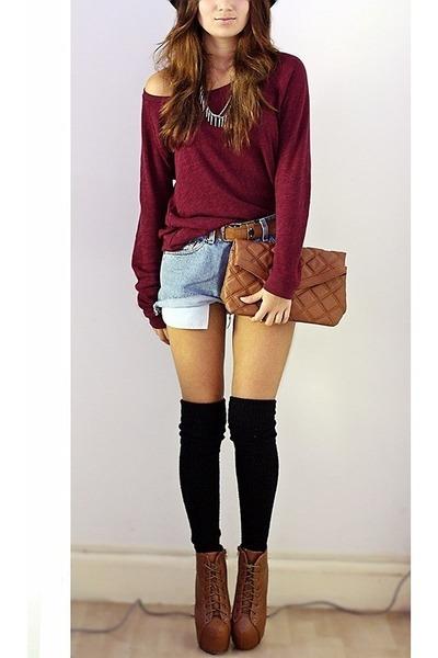 Bershka bag - brick red new look jumper - Oasapcom accessories