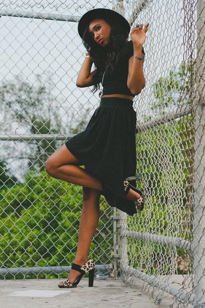 black Filthy Magic skirt - eggshell nadalya heel BCBGMAXAZRIA heels