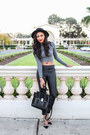 black 31 Phillip Lim bag - black Express pants - charcoal gray Choies top