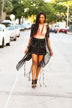 black evil twin cape - black XOXO skirt - bubble gum Living Royal top