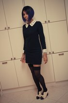 navy alexa dress Filthy Magic dress - black thigh highs Filthy Magic stockings -