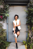 black platform ankle Stella McCartney boots - white clutch Quinn bag
