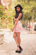 black Filthy Magic top - pink Vividly skirt