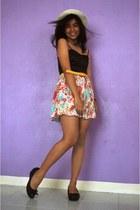 Forever 21 skirt - worn as top Forever 21 dress - Celine wedges