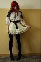 black Parfois shoes - white Zara dress - white River Island skirt