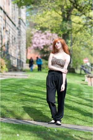 black Zara pants - bronze Primark romper