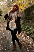 dark brown vintage coat