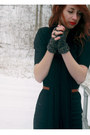 Black-target-boots-black-sewn-by-me-diy-dress-black-jersey-knit-scarf-blac