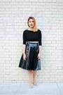 Black-h-m-blazer-black-tobicom-top-black-wasteland-skirt-silver-zara-flats