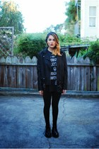 black Urban Outfitters jacket - black Black Milk Clothing leggings
