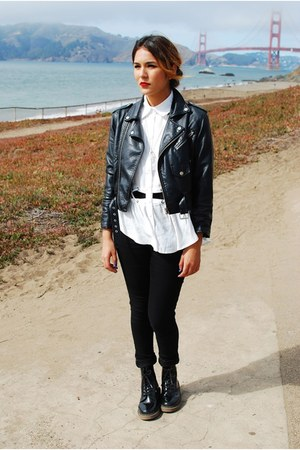 Nasty Gal jacket - Dr Martens boots - gypsy warrior blouse - love melrose pants