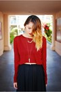Black-nasty-gal-jacket-crimson-miz-mooz-boots-crimson-zara-top