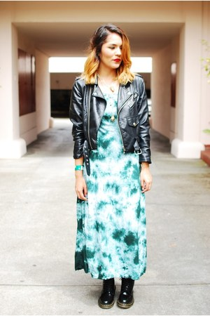 Nasty Gal jacket - Dr Martens boots - Wasteland dress