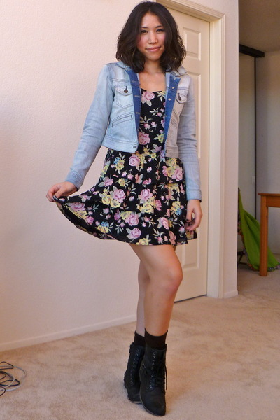 Dress jean jacket and boots – Jackets photo blog
