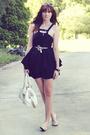 Black-sass-bide-dress-white-accessories-black-fossil-accessories-white-s