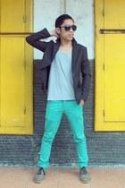 olive green Brodo Footwear boots - dark gray Number Nine blazer