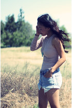 Bebe dress - vintage Levis shorts