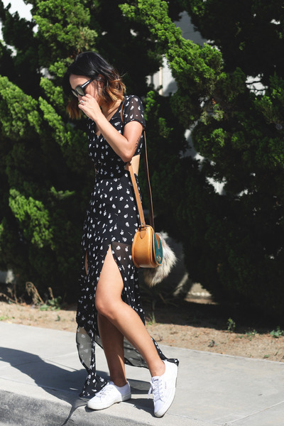 Superga shoes - Forever 21 dress - Beara Beara bag