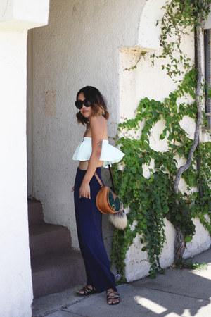 leather Beara Beara bag - house of harlow sunglasses - Front Row Shop pants