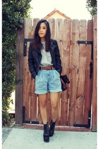 Helmut Lang shorts - Jeffrey Campbell shoes - vintage shirt