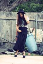 Insight shirt - Forever 21 heels - maxi skirt Forever21 skirt - cuff house of ha