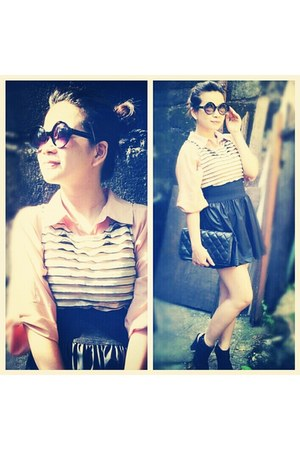 Topshop blouse - Chanel bag - Topshop skirt - Topshop top