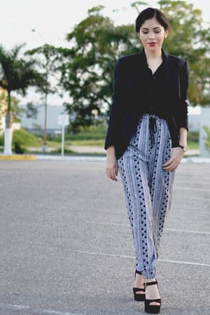 basic blouse - Forever 21 blazer - Brash heels - Forever 21 pants