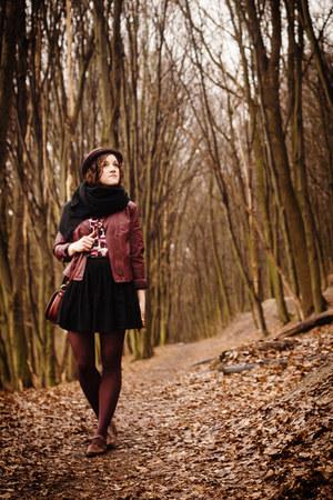 maroon biker troll jacket - magenta Book of Deer top - black Tatuum skirt
