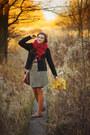 Black-bershka-jacket-burnt-orange-tights-ruby-red-voegele-scarf