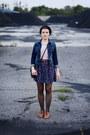 Navy-denim-zalando-jacket-light-pink-bershka-top-navy-thrifted-skirt