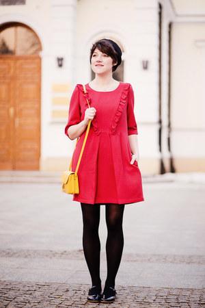 red a Robot Heart dress