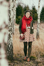 Tawny-oxford-ambra-shoes-ruby-red-handmade-dress-ivory-found-sweater