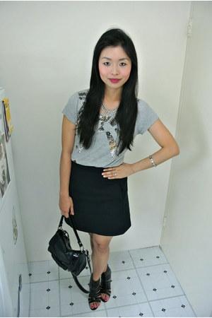 sass & bide t-shirt - Zara skirt