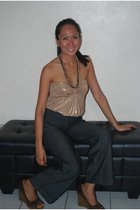 Mango top - unknown brand pants - Primera shoes - sm dept accessories