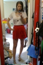Frenchi shirt - American Apparel skirt