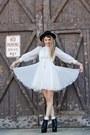 Ivory-fluttery-dolly-rock-paper-vintage-dress-black-lita-jeffrey-campblee-heel