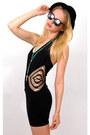 Black-cutout-bodycon-vintage-from-rock-paper-vintage-dress