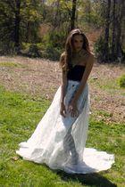 white lace train Rock Paper Vintage skirt