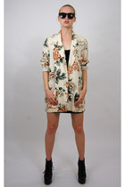 dark khaki floral print vintage from Rock Paper Vintage blazer