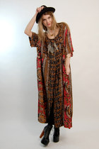 dark brown maxi Rock Paper Vintage dress