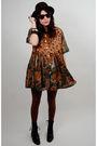 Black-rock-paper-vintage-dress-brown-cynthia-rowley-tights