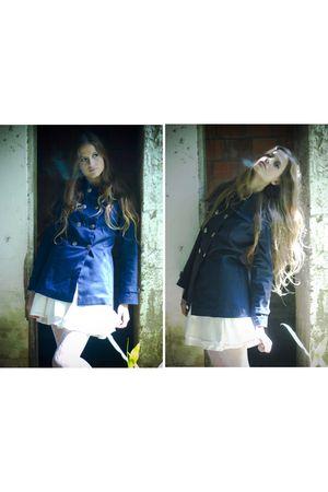 blue juli santini blazer - white juli santini skirt