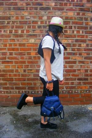 diy DIY hat - creepers Ebay boots - backpack Primark bag - H&M t-shirt