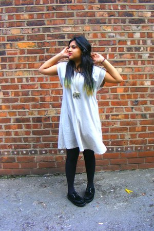 t-shirt H&M dress - creepers Ebay shoes - necklace Miss Selfridge accessories