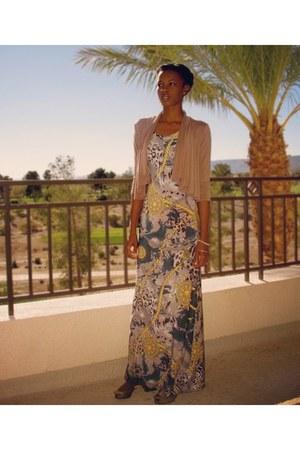 maxi dress Go Couture dress - animal print Diane Von Furstenberg flats