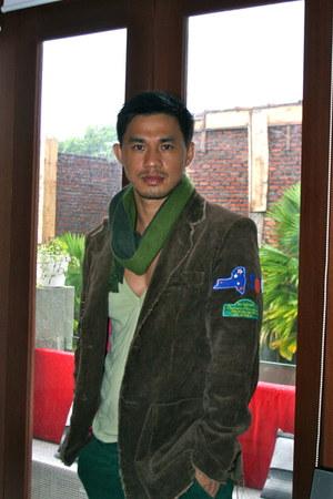 Esprit jeans - no brand blazer - Topman shirt - wool Marks and Spencer scarf